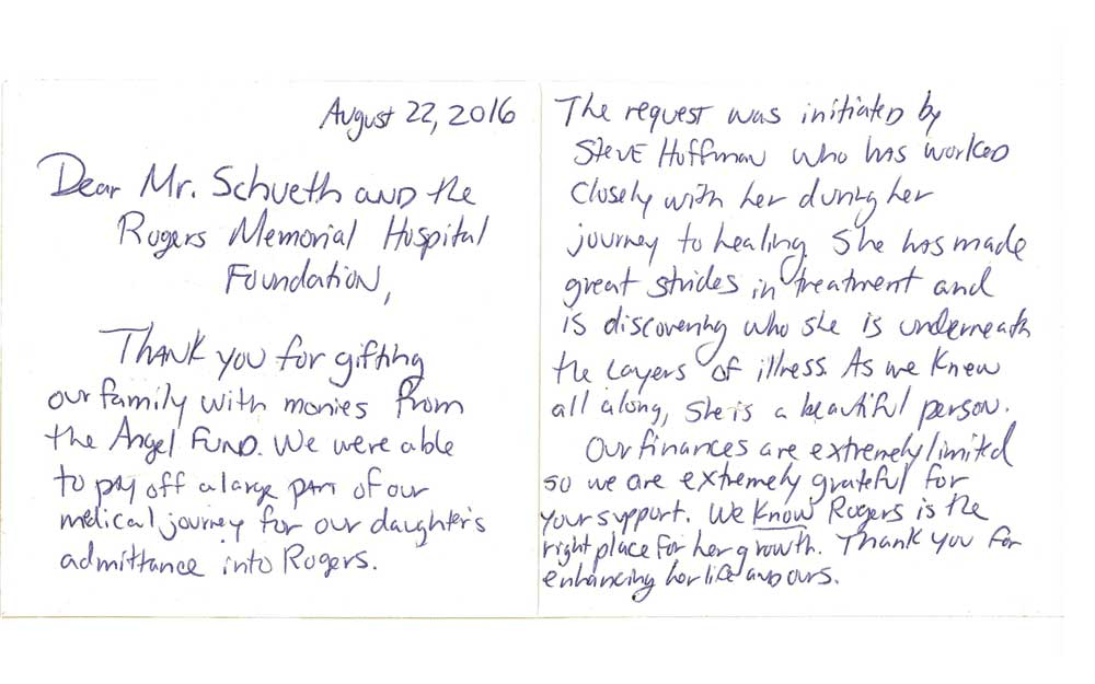 foundation grant inspires uplifting postcard from patient family