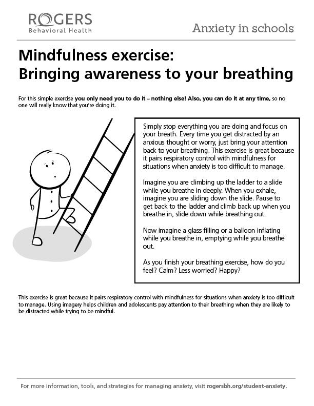 Printable resource: Mindfulness