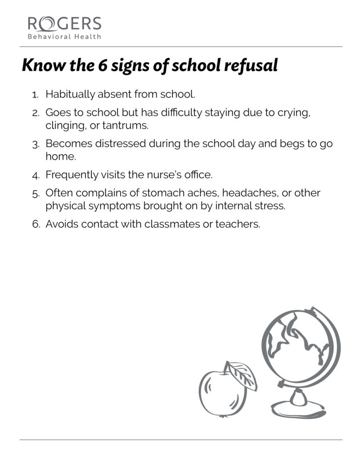 Know the 6 signs of school refusal