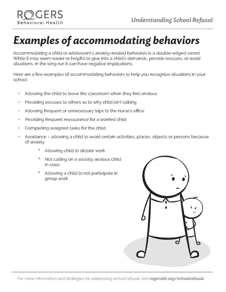 Accommodating behaviors
